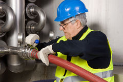 Pipeline craftsman Stock Photos