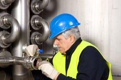 Pipeline craftsman Stock Photo