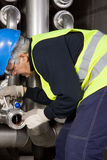 Pipeline craftsman Stock Images