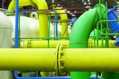 pipeline för oljeförädling för utrustning industriell nyast zon arkivfoto