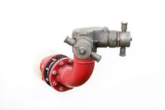 Pipeline fire pump Royalty Free Stock Image