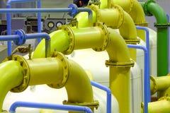 Pipeline. Industrial equipment zone Stock Photo