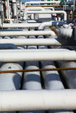 Pipeline. Industrial pipeline in an industry of gas and oil royalty free stock image