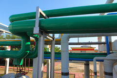 Pipeline. Industrial pipeline in an industry of gas and oil royalty free stock photography