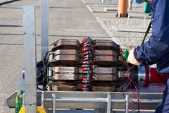 Pipeline-intelligent PIG. Pipeline control by intelligent PIG stock photography