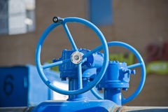 Pipeline with large valves Royalty Free Stock Photo