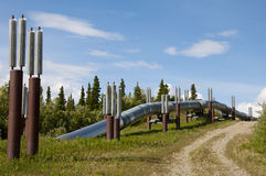 Pipeline Leaving Ground Royalty Free Stock Photos