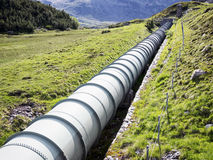 Pipeline. Modern pipeline at a valley Royalty Free Stock Image