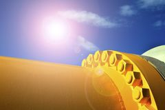 Pipeline. The oil industry,A close-up of the pipeline Stock Image