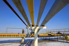 Pipeline. Oil pipeline, the oil industry stock photo