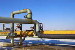 Pipeline. Oil pipeline, the oil industry royalty free stock photography