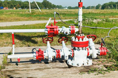 Pipeline of oil pump Royalty Free Stock Photography
