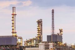 Pipeline petroleum with oil refinery Royalty Free Stock Images