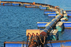 Pipeline on pontoon Royalty Free Stock Photos