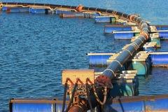 Pipeline on pontoon Royalty Free Stock Photos