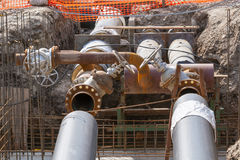 Pipeline replacement Stock Photo