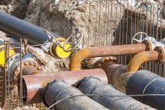 Pipeline replacement Stock Photos