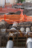 Pipeline replacement Stock Image