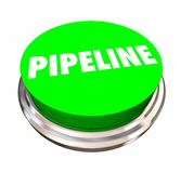 Pipeline Sales Funnel Process Green Button Word. 3d Illustration Stock Photos