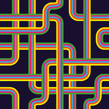 Pipeline seamless pattern Stock Photo