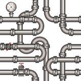 Pipeline seamless pattern royalty free illustration