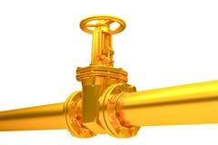 Pipeline stopcock Stock Image