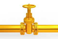 Pipeline stopcock Royalty Free Stock Photo
