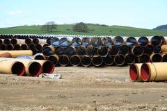 Pipeline Storage Depot. Royalty Free Stock Photo
