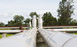 Pipeline transportation Oil Royalty Free Stock Image
