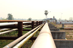 Pipeline transportation Oil, natural gas or water Stock Photography