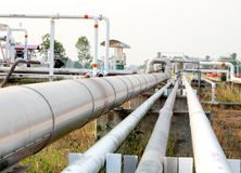 Pipeline transportation Oil, natural gas or water. Pipeline transportation is most common way of transporting goods such as Oil, natural gas or water on long stock image