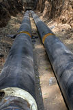 Pipeline  trench  ground Stock Image