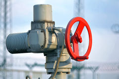 Pipeline valve Stock Photography