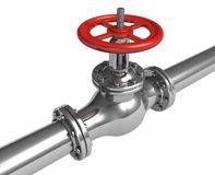 Pipeline with valve Stock Images