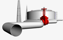 Pipeline_valve_concept Stock Photography