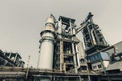 Pipeline valve facilities in steel mills Stock Image