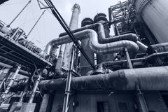Pipeline valve facilities in steel mills Royalty Free Stock Photos
