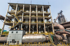 Pipeline valve facilities in steel mills Royalty Free Stock Photography