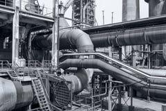 Pipeline valve facilities in steel mills Stock Photo