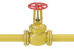 Pipeline with valve Stock Photos