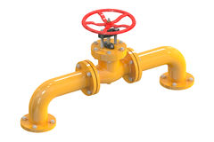 Pipeline with valve Stock Image
