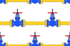 Pipeline valve pattern Stock Photos