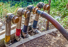 Pipeline with valves Stock Image
