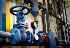 Pipeline valves Royalty Free Stock Photo