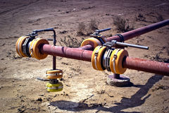 Pipeline valves Stock Photos