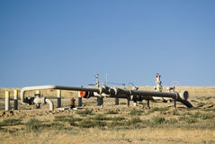 Pipeline valving Stock Photo
