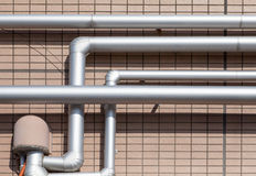 Pipeline water detail at industrial building Royalty Free Stock Photography