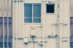 Pipeline water detail at industrial building Royalty Free Stock Photo
