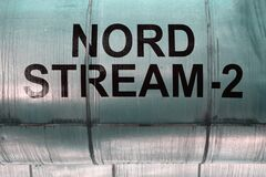 Free Pipeline With The Inscription NORD STREAM - 2 Stock Image - 191293891
