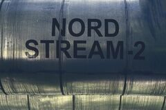 Free Pipeline With The Inscription NORD STREAM - 2 Royalty Free Stock Photos - 191293898